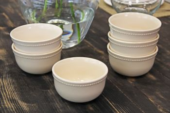 Pack 6 Bowls Queen Crema
